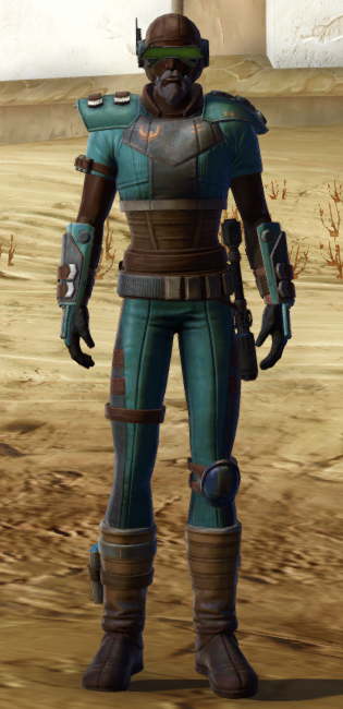 Discharged Infantry Armor Set Outfit from Star Wars: The Old Republic.