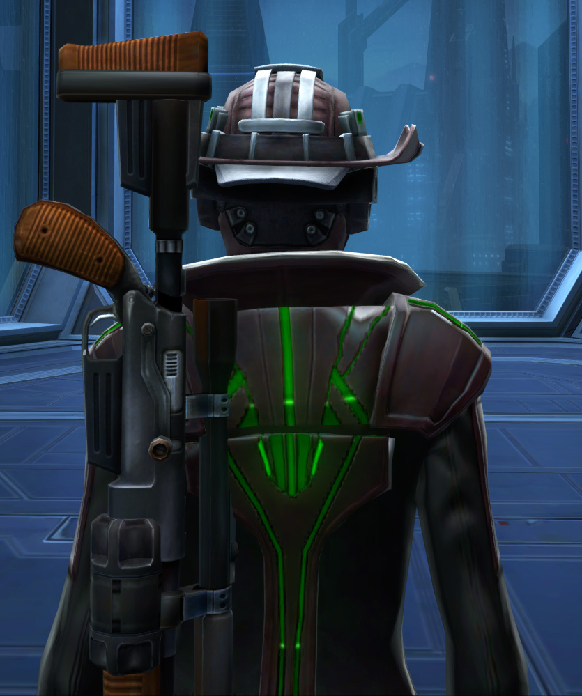 Dynamic Vandal Armor Set detailed back view from Star Wars: The Old Republic.