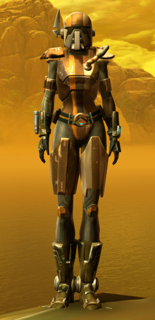 Electrum Onslaught Armor Set Outfit from Star Wars: The Old Republic.