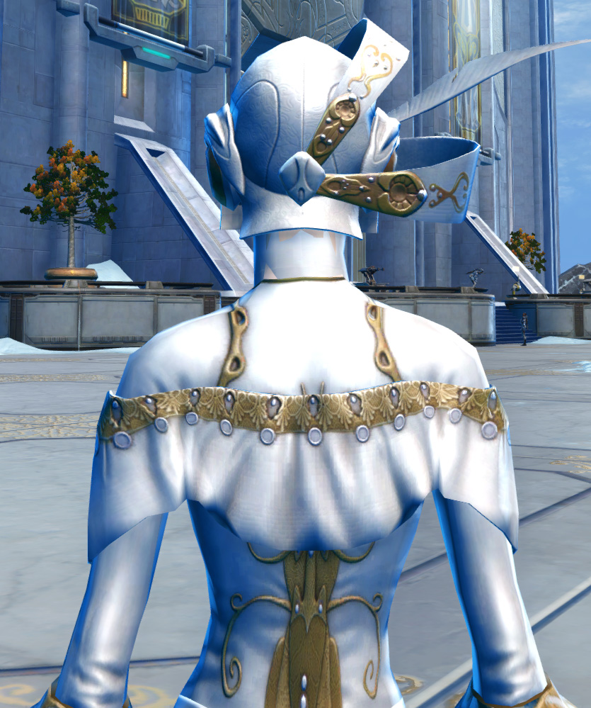 Elegant Armor Set detailed back view from Star Wars: The Old Republic.