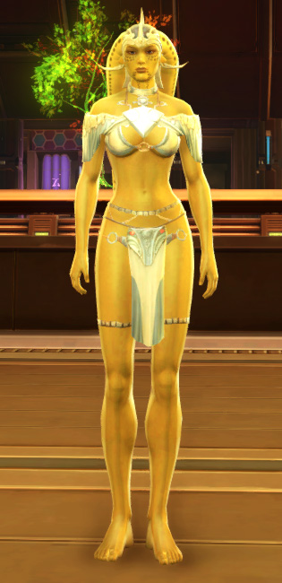 Elegant Loungewear Armor Set Outfit from Star Wars: The Old Republic.