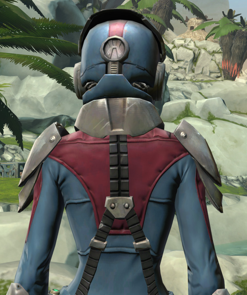 Elite Regulator Armor Set detailed back view from Star Wars: The Old Republic.