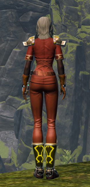 Energetic Champion Armor Set player-view from Star Wars: The Old Republic.