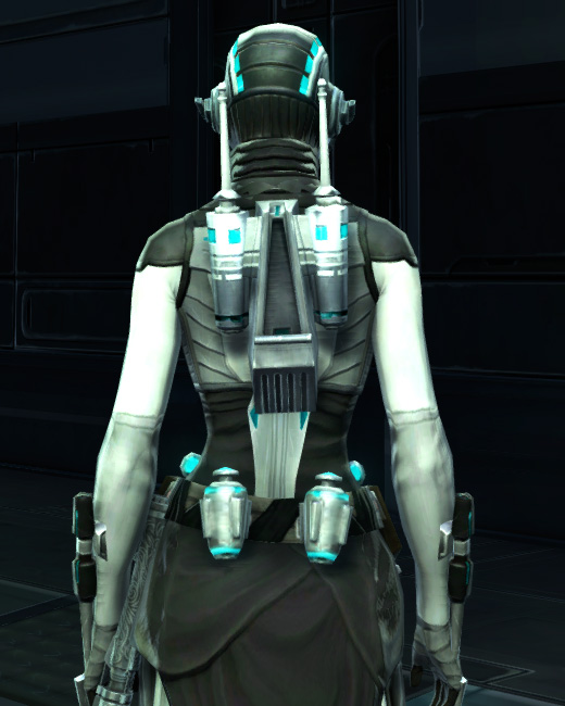 Energetic Combatant Armor Set Back from Star Wars: The Old Republic.