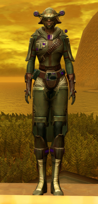 Energized Manhunter Armor Set Outfit from Star Wars: The Old Republic.