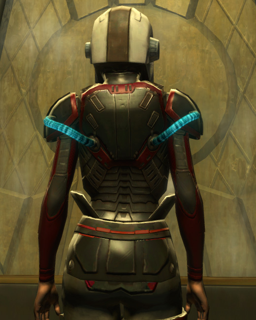 Eternal Battler Boltblaster Armor Set Back from Star Wars: The Old Republic.
