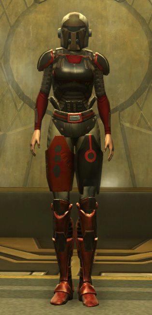 Eternal Battler Boltblaster Armor Set Outfit from Star Wars: The Old Republic.