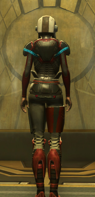 Eternal Battler Boltblaster Armor Set player-view from Star Wars: The Old Republic.