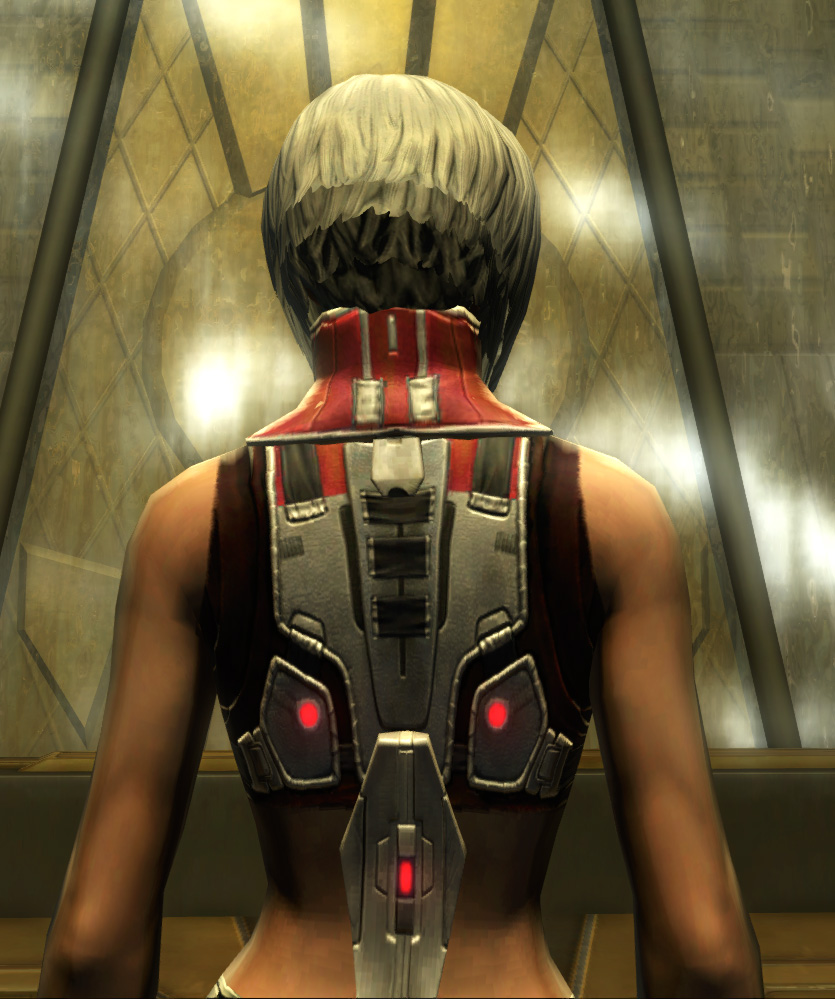 Eternal Battler Duelist Armor Set detailed back view from Star Wars: The Old Republic.