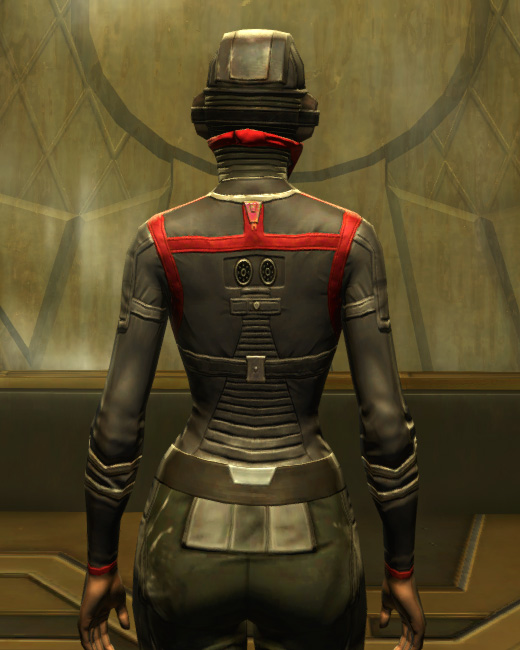 Eternal Battler Targeter Armor Set Back from Star Wars: The Old Republic.