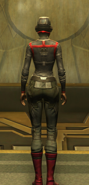 Eternal Battler Targeter Armor Set player-view from Star Wars: The Old Republic.