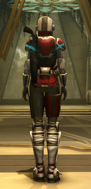 Eternal Conqueror Med-Tech Armor Set player-view from Star Wars: The Old Republic.