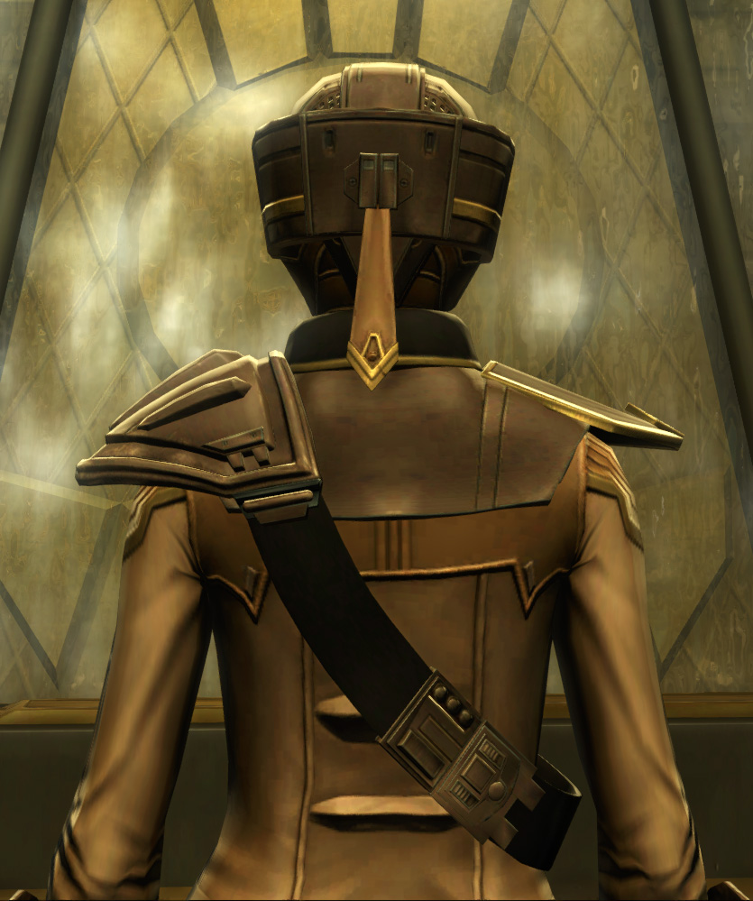The Final Breath Armor Set detailed back view from Star Wars: The Old Republic.