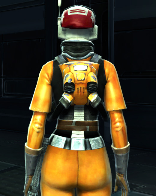 Experimental Pilot Suit Armor Set Back from Star Wars: The Old Republic.