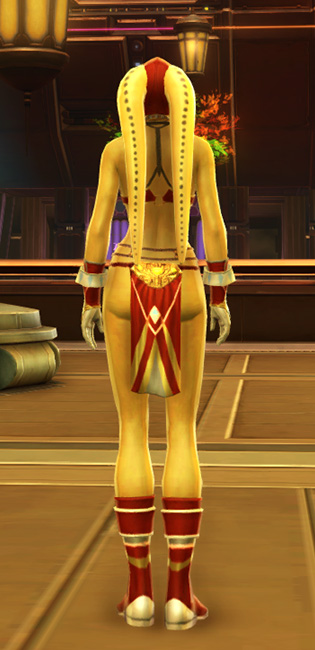 Exquisite Dancer Armor Set player-view from Star Wars: The Old Republic.