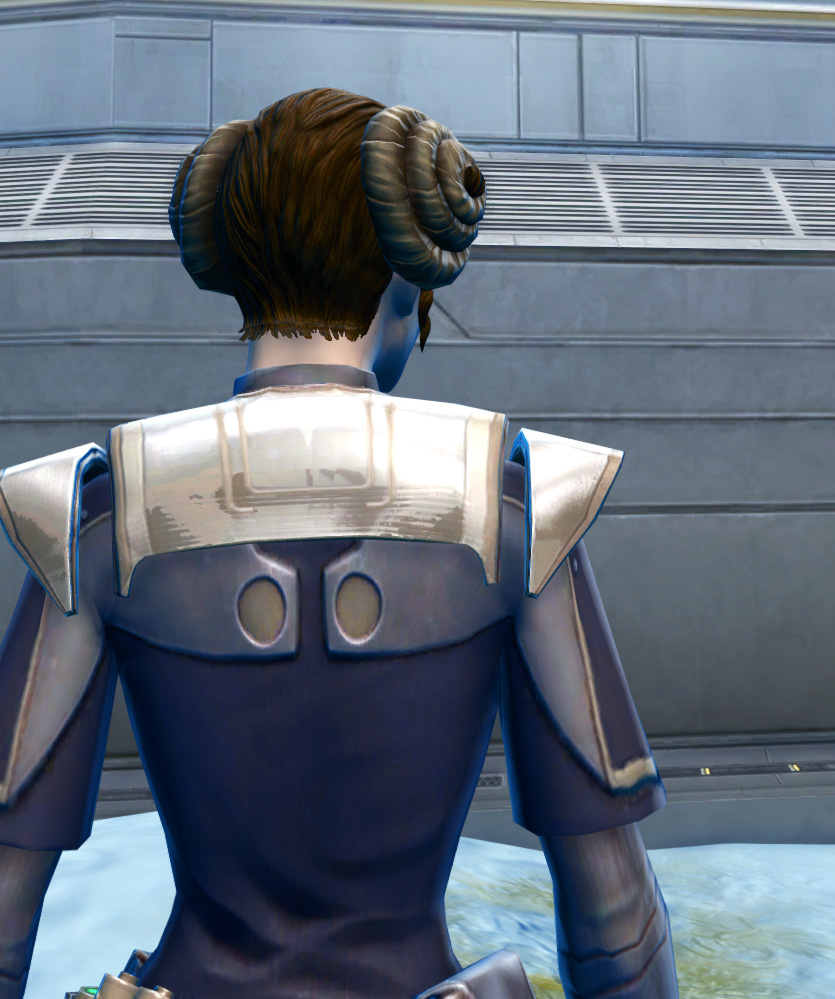 Exquisite Formal Armor Set detailed back view from Star Wars: The Old Republic.