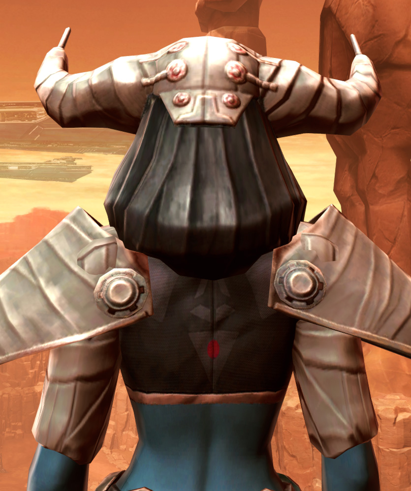 Feral Visionary Armor Set detailed back view from Star Wars: The Old Republic.