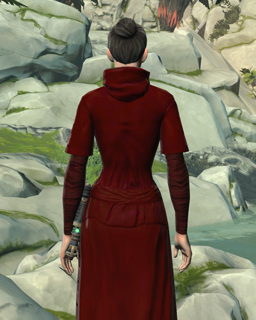 Festive Life Day Robes Armor Set Back from Star Wars: The Old Republic.