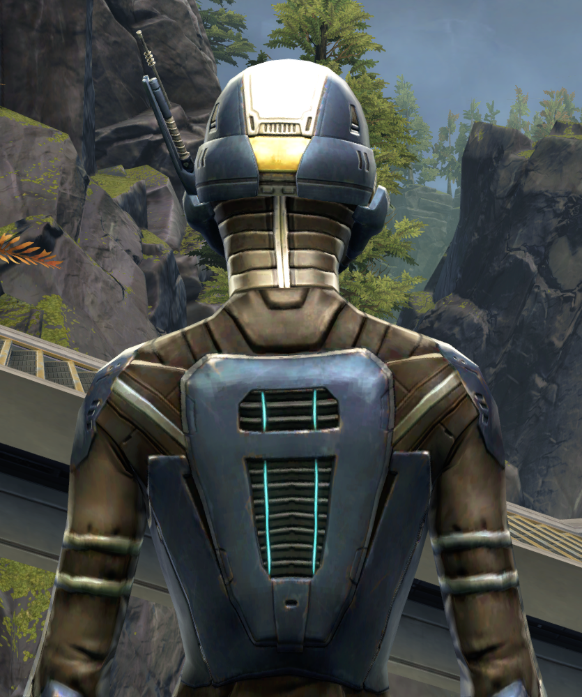 Flawless Riposte Armor Set detailed back view from Star Wars: The Old Republic.