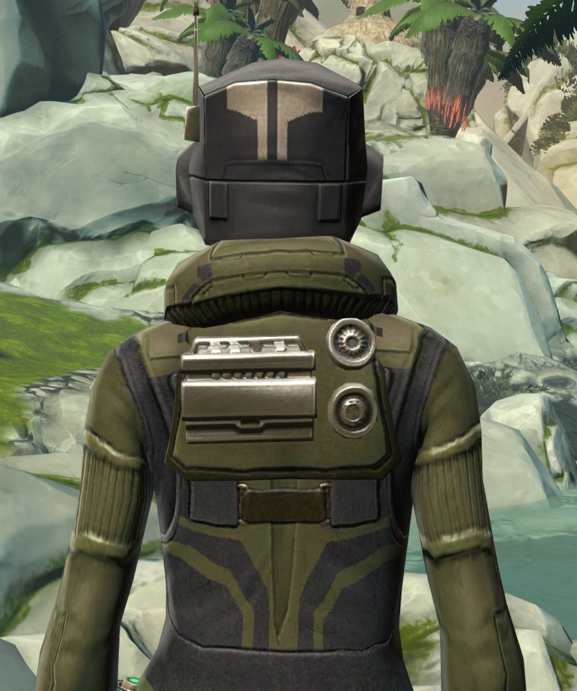 Forest Scout Armor Set detailed back view from Star Wars: The Old Republic.