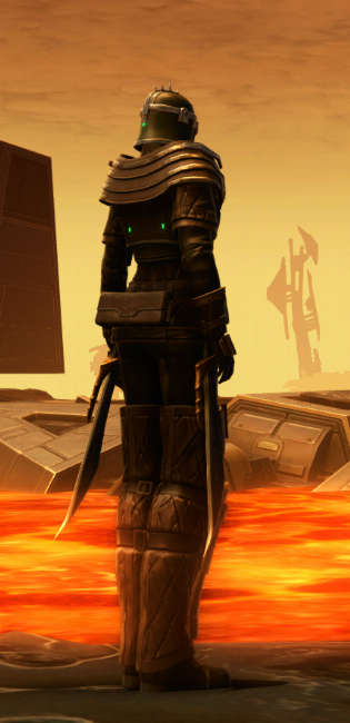 Forgemaster Armor Set player-view from Star Wars: The Old Republic.