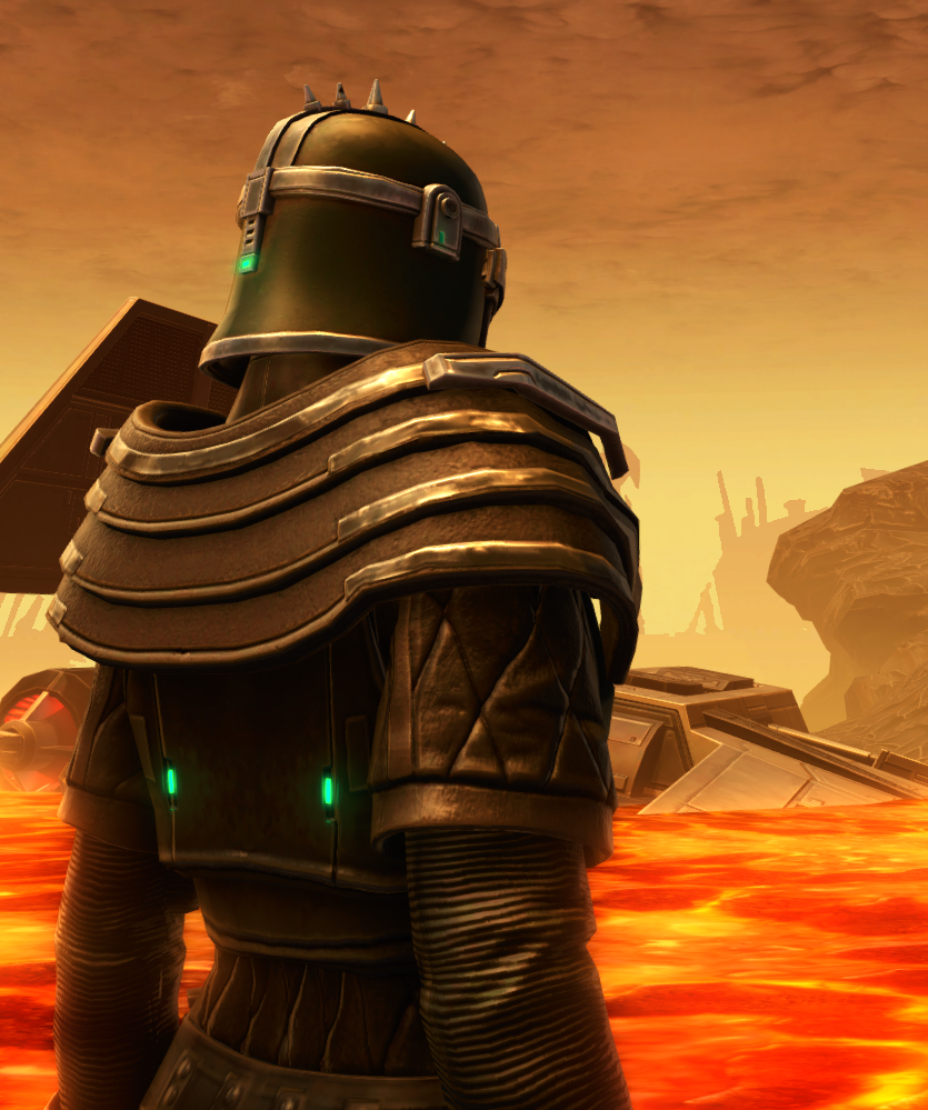 Forgemaster Armor Set detailed back view from Star Wars: The Old Republic.