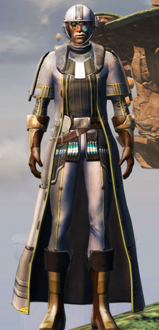 Fortified Lacqerous Armor Set Outfit from Star Wars: The Old Republic.