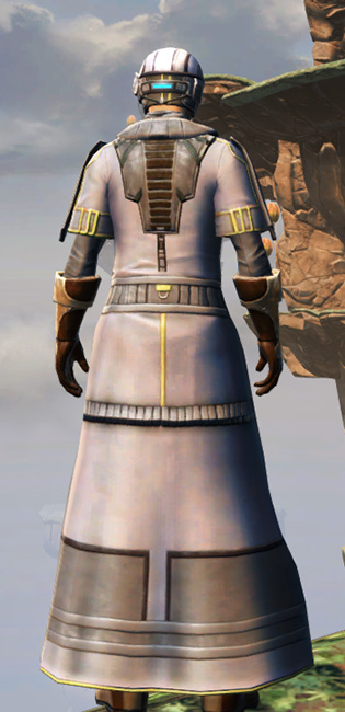 Fortified Lacqerous Armor Set player-view from Star Wars: The Old Republic.