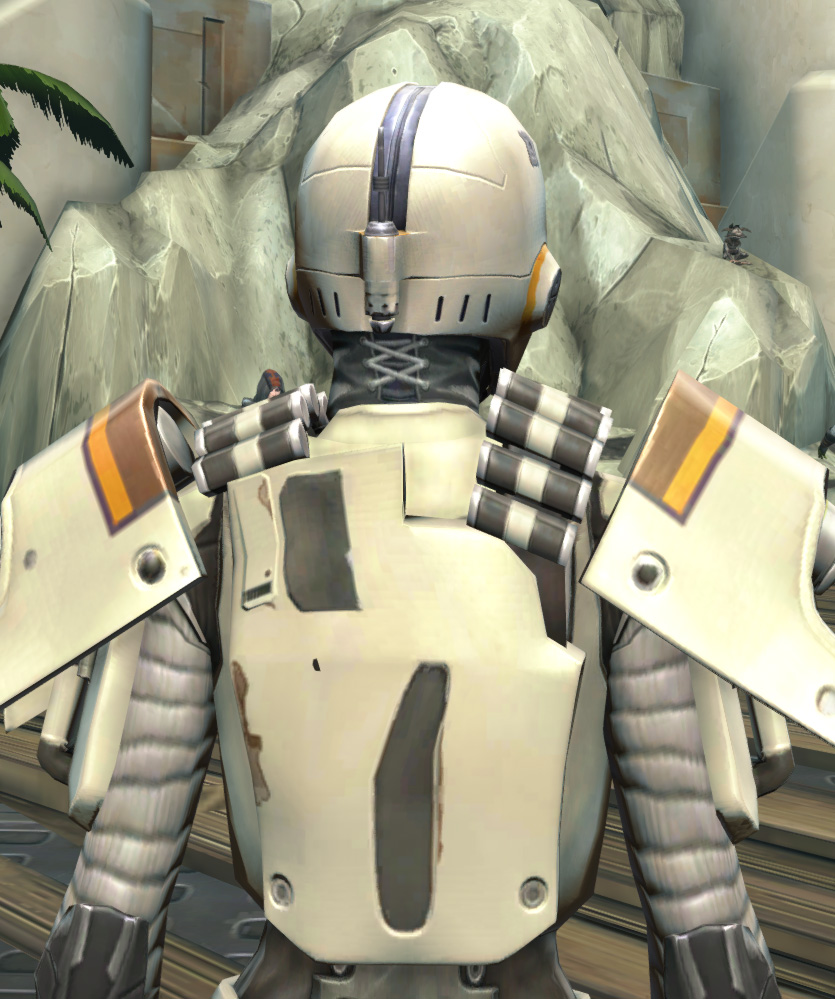 Frogdog Huttball Away Uniform Armor Set detailed back view from Star Wars: The Old Republic.