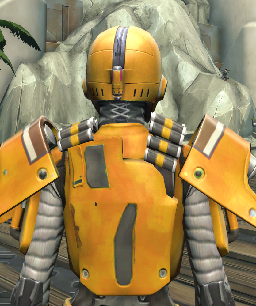 Frogdog Huttball Home Uniform Armor Set detailed back view from Star Wars: The Old Republic.