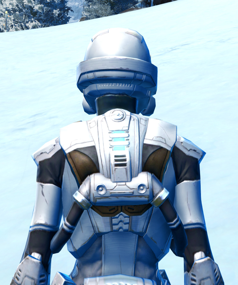 Frontline Defender Armor Set detailed back view from Star Wars: The Old Republic.