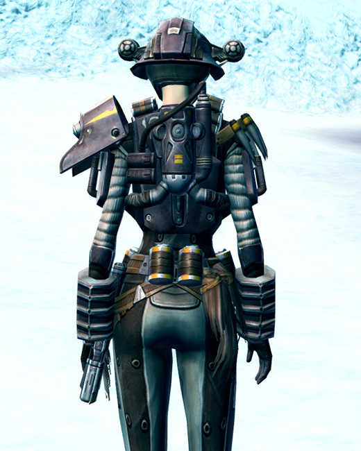Frontline Mercenary Armor Set Back from Star Wars: The Old Republic.