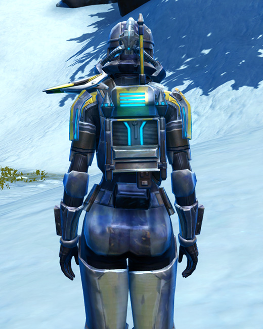 Galvanized Infantry Armor Set Back from Star Wars: The Old Republic.