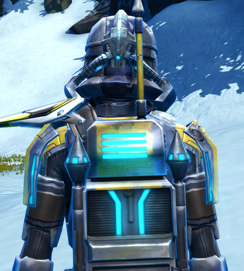 Galvanized Infantry Armor Set detailed back view from Star Wars: The Old Republic.