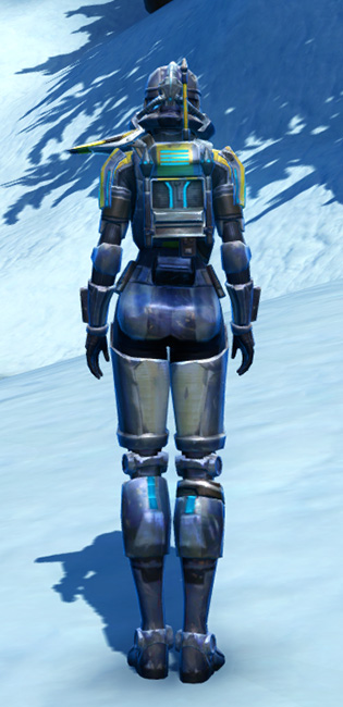 Galvanized Infantry Armor Set player-view from Star Wars: The Old Republic.