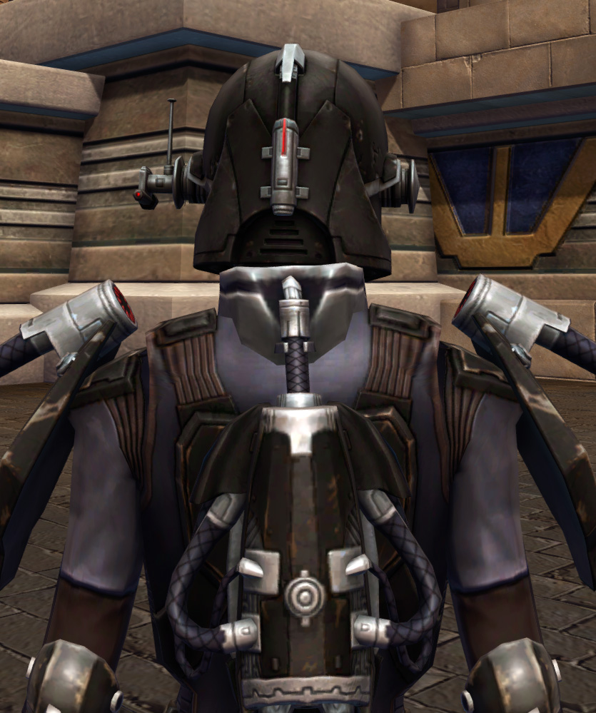 Game Plan Armor Set detailed back view from Star Wars: The Old Republic.