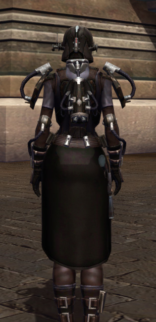 Game Plan Armor Set player-view from Star Wars: The Old Republic.