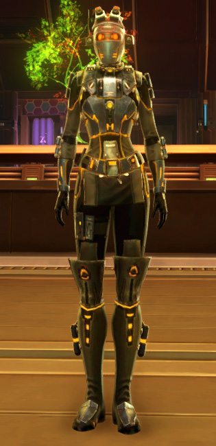 Gold Scalene Armor Set Outfit from Star Wars: The Old Republic.