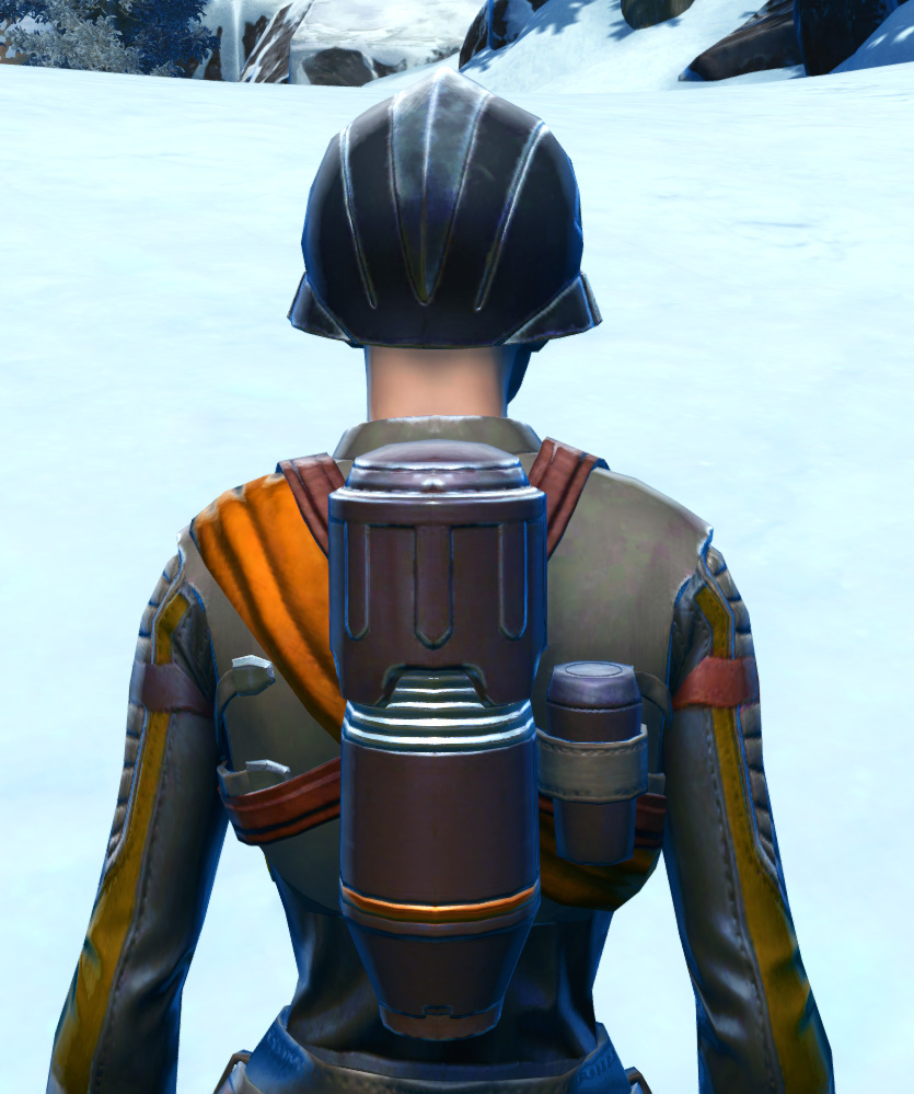 Hadrium Asylum Armor Set detailed back view from Star Wars: The Old Republic.