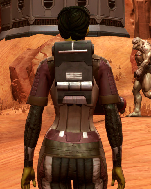 Bolted (Imperial) Armor Set Back from Star Wars: The Old Republic.