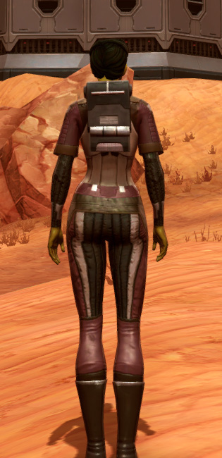 Bolted (Imperial) Armor Set player-view from Star Wars: The Old Republic.