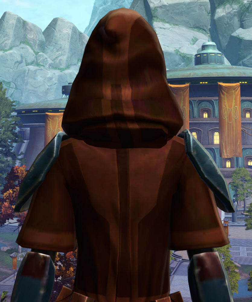 Hypercloth Aegis Armor Set detailed back view from Star Wars: The Old Republic.