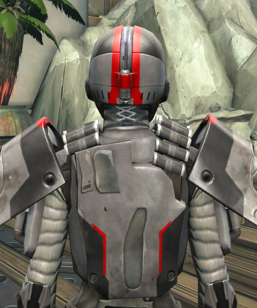 Imperial Huttball Away Uniform Armor Set detailed back view from Star Wars: The Old Republic.