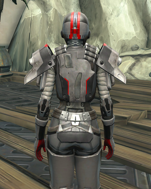 Imperial Huttball Away Uniform Armor Set Back from Star Wars: The Old Republic.