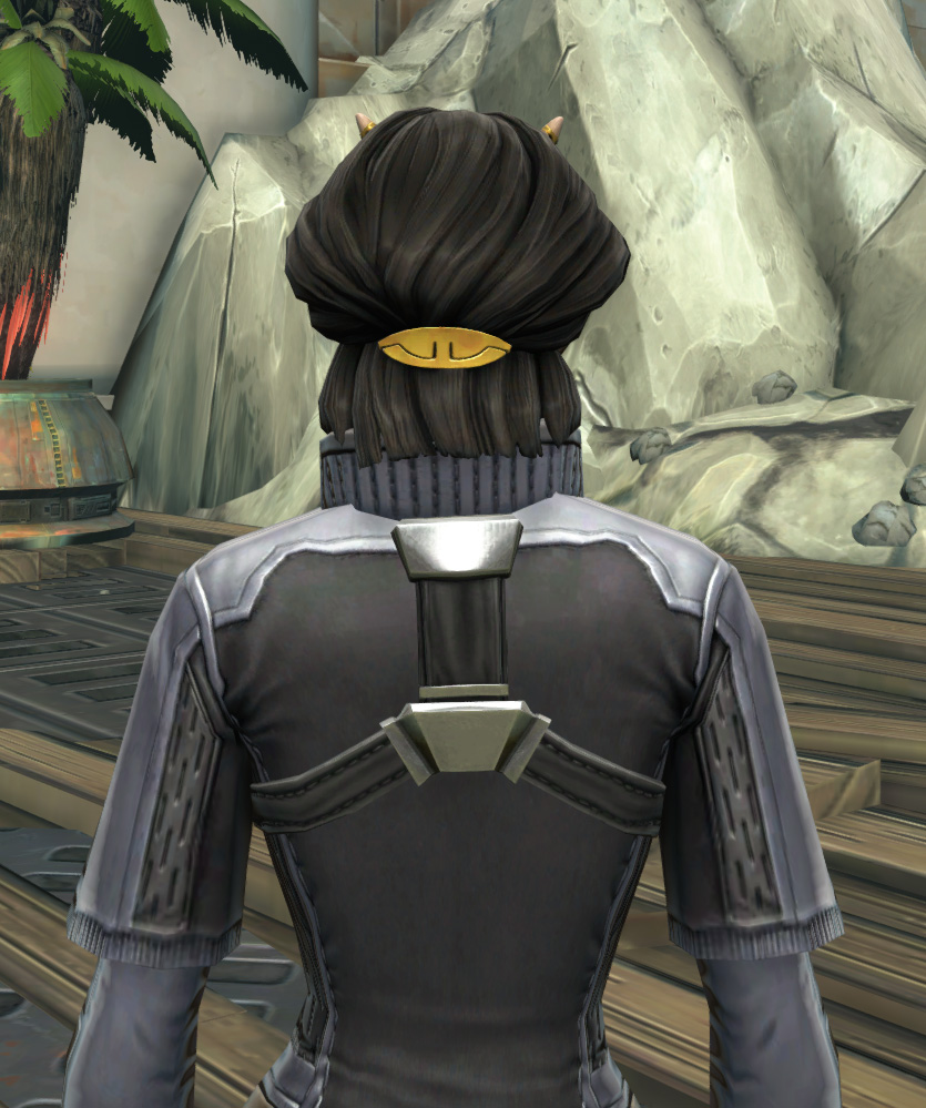 Imperial Practice Jersey Armor Set detailed back view from Star Wars: The Old Republic.