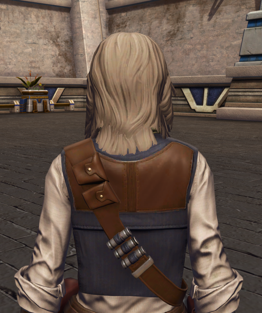 Impulsive Adventurer Armor Set detailed back view from Star Wars: The Old Republic.
