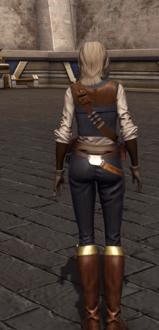 Impulsive Adventurer Armor Set player-view from Star Wars: The Old Republic.