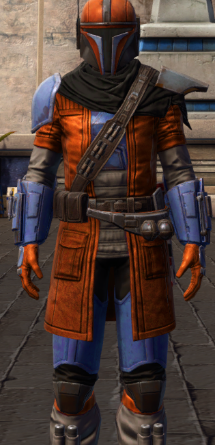 Infamous Bounty Hunter dyed in SWTOR.