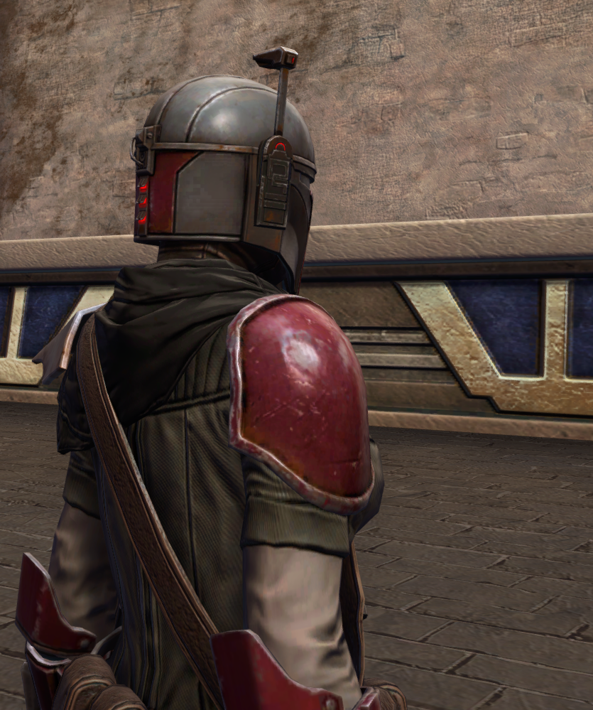 Infamous Bounty Hunter Armor Set detailed back view from Star Wars: The Old Republic.