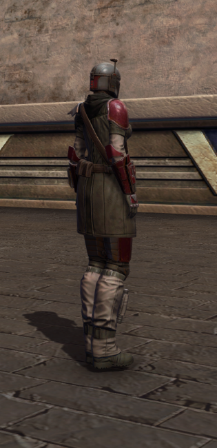 Infamous Bounty Hunter Armor Set player-view from Star Wars: The Old Republic.